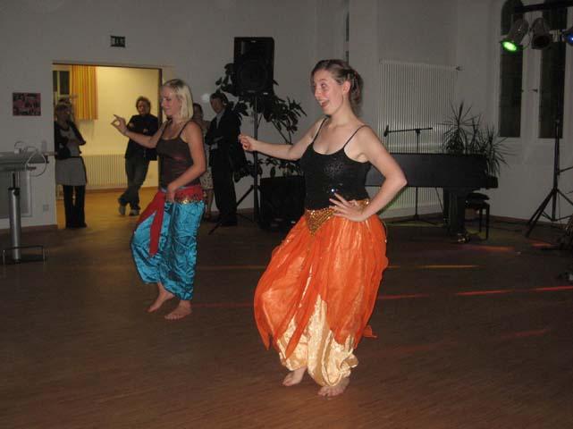 Tanzeinlagen während der Gala