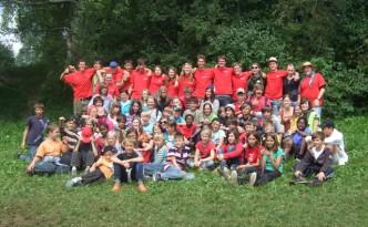 Gruppenbild Zeltlager 2010