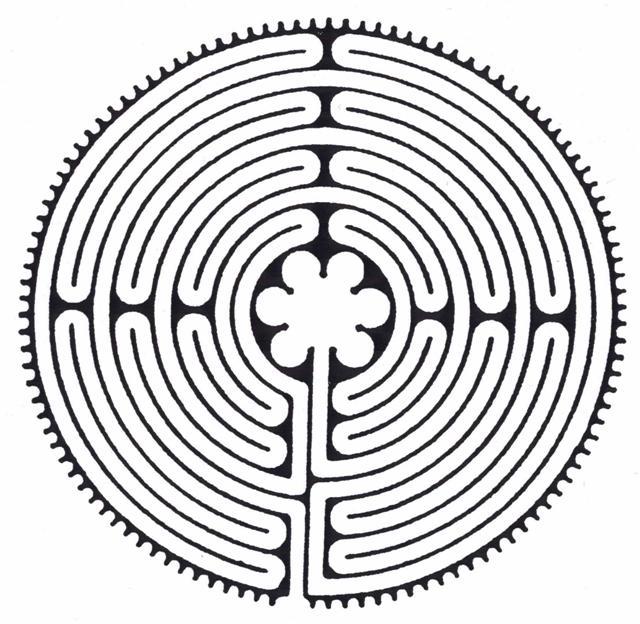 Chartres-Labyrinth, das Logo der Firmung in Freudenstadt