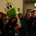 Diko Delegation mit dem KjG-Drachen