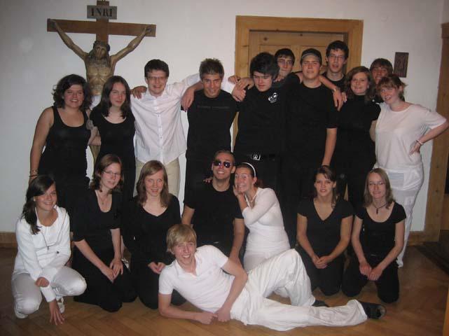 Das Gruppenbild auf der Party