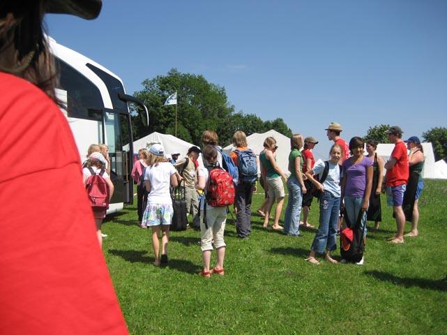 Ankunftstag des Zeltlager 2008