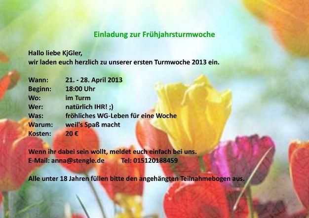 Einladung zur Frühlingsturmwoche