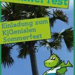 Vorderseite der Einladung für das Sommerfest der KjG Freudenstadt