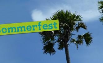 Slider auf der Homepage für das Sommerfest