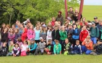 Das große Gruppenbild des Zeltlagers 2014 in Nöggenschwiel